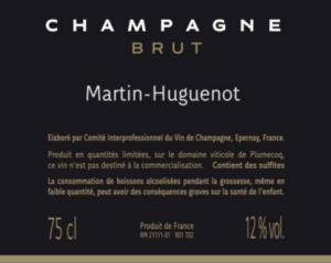 El vestido de una botella de Champagne